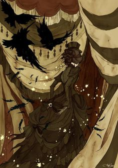 """""""Everywhere She Went, She was Followed by a Murder of Crows"""" / Abigail Larson/ for The Night Circus."""