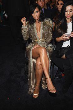 Kim Kardashian at the 2015 Grammy Awards wearing Givenchy