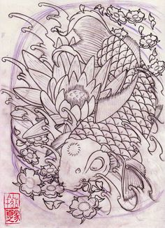 1000 Images About Koi On Pinterest Coloring Pages Koi