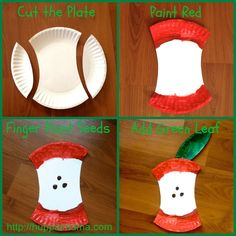 Paper Plate Apple Food Craft                                                                                                                                                      More