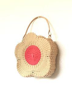 お菓子なバッグVer.1 いちごジャムのお花型クッキーバッグ*エコクラフト