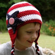 Star and Stripes Hat ~ free pattern