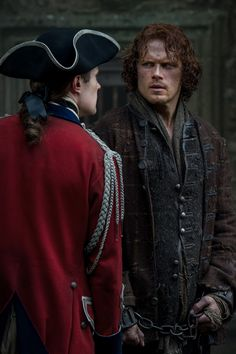 Ardsmuir Prison - Sam Heughan as Jamie Fraser and David Berry as Lord John Grey - Outlander_Starz Season 3 Voyager - Episode 303 All Depts Paid - September 24th, 2017