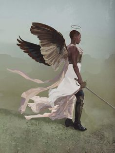 Illustrated by Rafael Maciel. Angel Aesthetic, Aesthetic Art, The Wicked The Divine, Ange Demon, Black Angels, Wow Art, Angels And Demons, Angel Art, Black Art