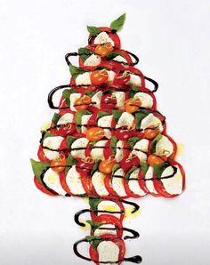 Mozzarella, Tomato & Basil Christmas tree