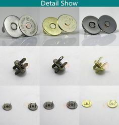 10 Sets Antique Bronze Metal Bag Magnetic press stud button