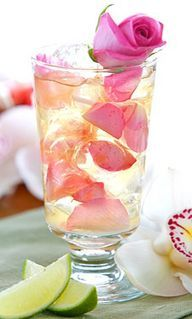 Rose Mojitos are the prettiest sips we've seen in a while.