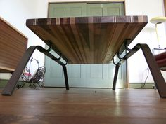 Scrap Wood Sled Coffee Table