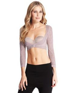 Light control cupless Armwear crop top - for those of us who for one reason or another prefer to cover our arms - can be worn with otherwise sleeveless garments.