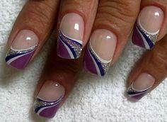Beautiful purple and silver design