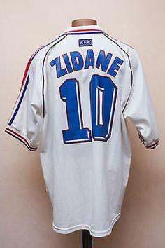 France 1998 world cup away football  shirt jersey  maglia  adidas  10 zidane b31458c4e