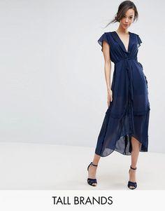 True Decadence Flutter Sleeve Midi Dress