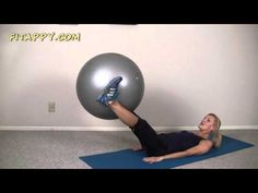 Easy Abs Workout With Ball ♦ Beginner Exercise Ball Workout - YouTube