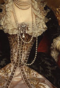 "tradicionalart:  ""Princess Margherita""(detail), byMichele Gordigiani (1835 – 1909)"