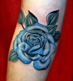 Rose Thorns Design Blue Rose Tattoo Design Men