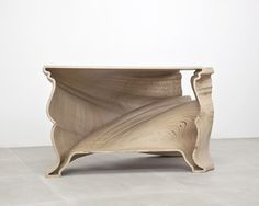 Amazing 'Cinderella Table' CNC cut  Birch Plywood also must check out the marble one version, incredible!