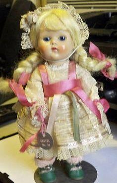 """Vintage Vogue 8"""" Strung Ginny """"Gretel"""" #34 w/Foil HangTag1953-54"""