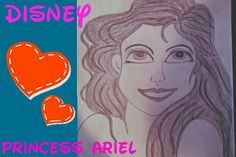 #Disney #princess #Ariel the little #mermaid #sketch #art #pencil #drawing