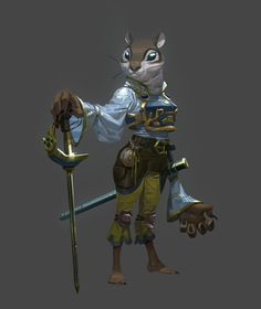 ArtStation - The Fourteen Gold Weapons - The Grandmaster (+ video), Nesskain Nesskain Character Creation, Character Concept, Character Art, Concept Art, Character Ideas, Monster Characters, Fantasy Characters, Wireframe, Dragons