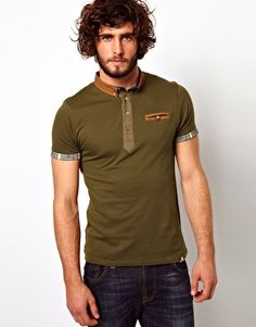 Bellfield Polo Shirt With Contrast Trims: i really like this one