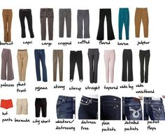 A visual glossary of women's pantsVia