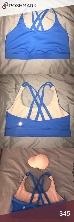 Lululemon Energy Bra Just too big! Washed once but never worn. Comes with pads! lululemon athletica Intimates & Sleepwear Bras