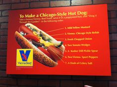 To Make a Chicago Style Hot Dog