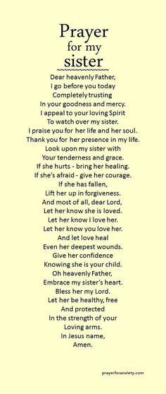 Prayer for my sister
