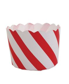 Red Candy Stripe Cupcake Cup