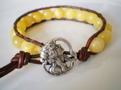 Misted Yellow Jewelry Misted Yellow Bracelet Art by RopesofPearls
