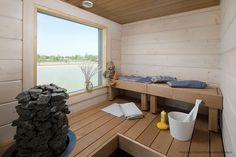 Modern Saunas, Sauna Steam Room, Finnish Sauna, Rocket Stoves, Spa, Bathtub, Bathroom, Finland, Home