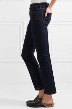 L'Agence - Coco Mid-rise Slim-leg Jeans - Midnight blue - 26