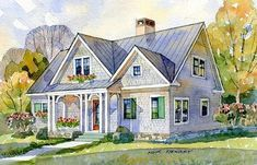 May Isle Cottage - | Southern Living House Plans