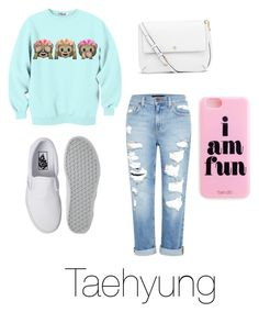 """Casual date with V."" by laylarawlings on Polyvore featuring Genetic Denim, Vans, Tory Burch, women's clothing, women, female, woman, misses and juniors"