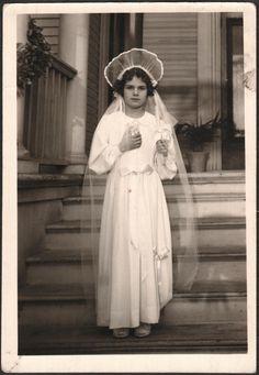Probably her First Holy Communion.