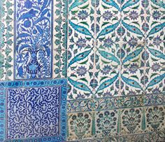 Azulejos do Palácio de Topkapi - Istambul - Turquia
