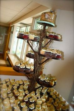 oh I love this cupcake tree. would be perfect :) My Photo Album Wedding Cakes Photos on WeddingWire Cupcake Tree, Cake And Cupcake Stand, Cupcake Display, Cupcake Cakes, Kid Cakes, Summer Cupcakes, Wedding Cupcakes, Rustic Cupcakes, Wedding Cake Photos