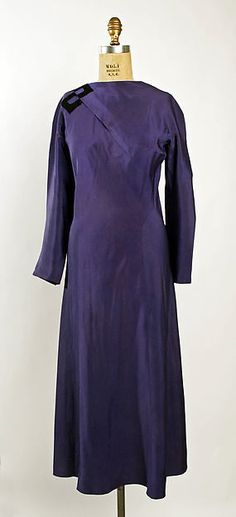 Afternoon dress (image 1)   Madeleine Vionnet   French   1930   silk   Metropolitan Museum of Art   Accession Number: 1978.278.5