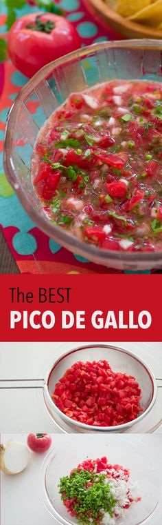 My tricks for making the best Pico de Gallo that doesn't drip all over the place.