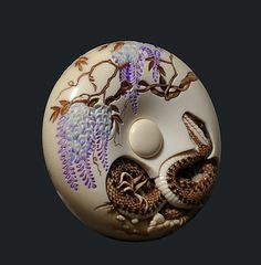 Contemporary Netsuke by Natasha Popova- one of the leading Netsukeshi in the Western World. Made as a special commission.