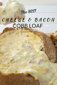 and Cheese Cobb Loaf Looking for a great dish to take to your next party? This Cheese and Bacon Cobb loaf is for you!Looking for a great dish to take to your next party? This Cheese and Bacon Cobb loaf is for you! Xmas Food, Christmas Cooking, Christmas Party Food, Fall Food, Loaf Recipes, Cooking Recipes, Fast Recipes, Healthy Recipes, Savory Bread Recipe