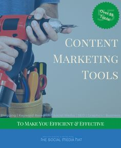 These are all of the tools that I use to create a successful blog and business. Over 55 tools recommended, along with various platform links. | http://www.thesocialmediahat.com/article/top-tools-efficient-and-effective-content-marketing