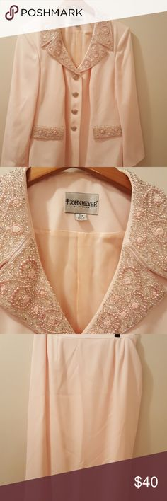 Pink skirt suit Pink skirt suit.  Worn twice.  In great condition. John Meyer Skirts