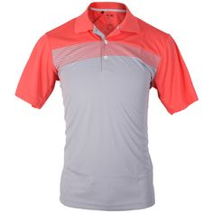 Adidas Golf Men's ClimaCool Graphic Block Print Golf Polo Shirt - Zone/Poppy