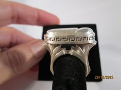 Solid silver scarab ring hand made fine jewellery by ScreenGems333 on Etsy, $320.00