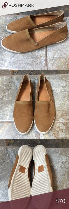Frye Melanie Slip On Camel.  Excellent condition.  Worn once. Frye Shoes Flats & Loafers