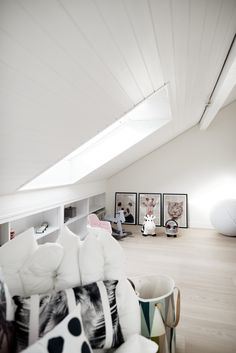 A view at the playroom in the attic we designed from our completed Lili & Lola Project in Geneva Switzerland Geneva Switzerland, Attic, Playroom, Lily, Interiors, Projects, Design, House, Loft Room