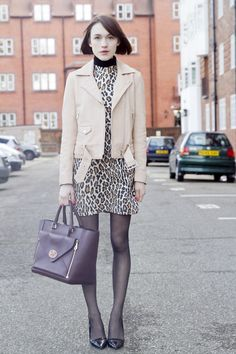 Rocking a little leopard for #LFW #AW14 day 1