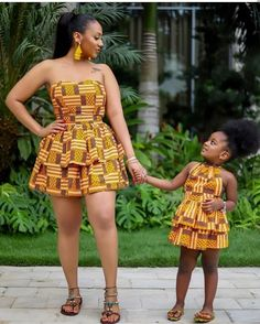 African Dresses: Fashionable African Wear Styles in 2020 - - African dresses vary from brightly colored textiles to abstractly embroidered robes, to colorful beaded bracelets and necklaces. African Dresses For Kids, African Fashion Ankara, Latest African Fashion Dresses, African Dresses For Women, African Print Dresses, African Print Fashion, African Attire, African Prints, African Women