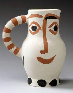 Picasso Ceramic Madoura Sculpture Signed, Visage, 1959